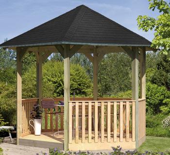 Punktfundament für Pavillons